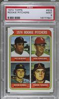 1974 Rookie Pitchers (Vic Albury, Ken Frailing, Kevin Kobel, Frank Tanana) [PSA…