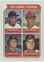 1974 Rookie Pitchers (Vic Albury, Ken Frailing, Kevin Kobel, Frank Tanana) [Poo…