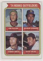 '74 Rookie Outfielders (Jim Fuller, Wilbur Howard, Tommy Smith, Otto Velez) [Po…