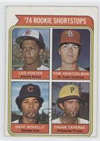 '74 Rookie Shortstops (Leo Foster, Tom Heintzelman, Dave Rosello, Frank Taveras…