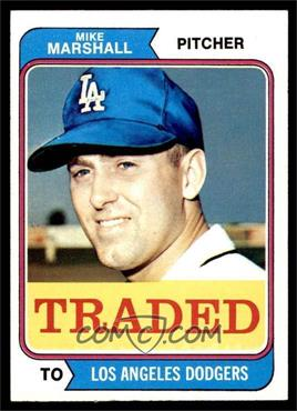 1974 Topps - [Base] #73T - Traded - Mike Marshall [NM]