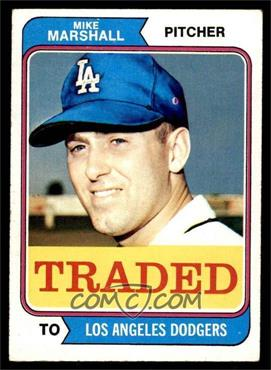 1974 Topps - [Base] #73T - Traded - Mike Marshall [VGEX]