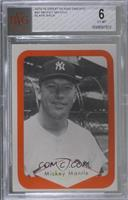 Mickey Mantle (Blank Back) [BVG 6 EX‑MT]