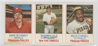 Mike Schmidt, Sparky Lyle, Willie Stargell [Good to VG‑EX]