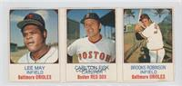 Lee May, Carlton Fisk, Brooks Robinson [Good to VG‑EX]
