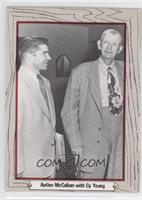 Author McCallum with Cy Young (John McCallum, Cy Young)