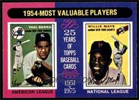 1954-Most Valuable Players (Yogi Berra, Willie Mays) [EXMT]