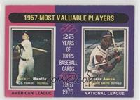 1957 Most Valuable Players (Mickey Mantle, Hank Aaron) [GoodtoVG…