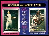 1957 Most Valuable Players (Mickey Mantle, Hank Aaron) [EXMT]