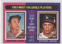 1962-Most Valuable Players (Mickey Mantle, Maury Wills)