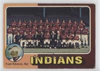 Cleveland Indians Team Checklist (Frank Robinson) [Poor]