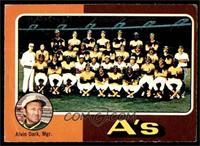 Oakland Athletics Team Checklist (Alvin Dark) [POOR]