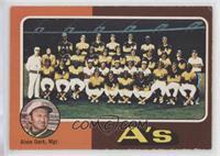 Oakland Athletics Team Checklist (Alvin Dark) [VeryGood‑Excellent]