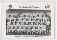 1975 Fort Lauderdale Yankees Team Photo