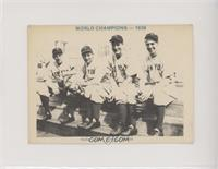 Red Rolfe, Tony Lazzeri, Lou Gehrig, Frank Crosetti (1938-Black Back)