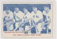 Rudy York, Wally Moses, Dom DiMaggio, Bobby Doerr, Hal Wagner (Blue Back) [Good…