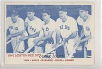 Rudy York, Wally Moses, Dom DiMaggio, Bobby Doerr, Hal Wagner (Blue Back)