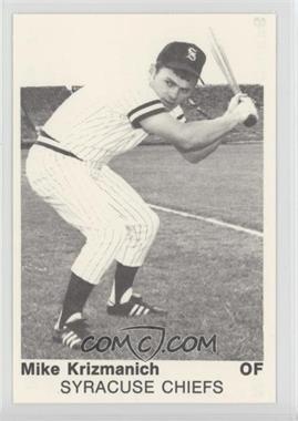 1975 TCMA 1974 International League All-Stars - [Base] #3 - Mike Krizmanich