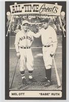 Mel Ott, Babe Ruth