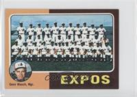 Montreal Expos Team, Gene Mauch