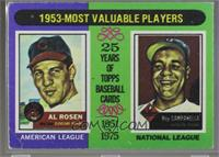 Al Rosen, Roy Campanella [Poor to Fair]