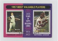 1957- Most Valuable Players (Mickey Mantle, Hank Aaron) [GoodtoVG&#…