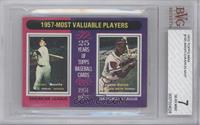 1957- Most Valuable Players (Mickey Mantle, Hank Aaron) [BVG7NEAR&n…