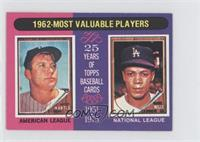 Mickey Mantle, Maury Wills