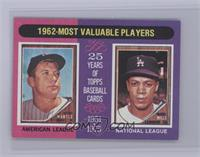 Mickey Mantle, Maury Wills [Near Mint‑Mint]