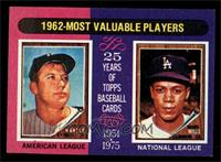 Mickey Mantle, Maury Wills [EX MT]