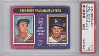 Mickey Mantle, Maury Wills [PSA 7 NM]