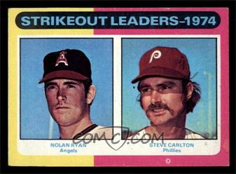 1975 Topps - [Base] - Minis #312 - Nolan Ryan, Steve Carlton [EX]