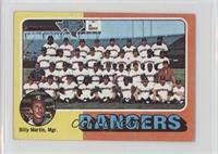 Texas Rangers Team, Billy Martin [NoneGoodtoVG‑EX]