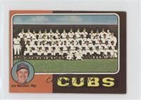 Chicago Cubs Team Checklist (Jim Marshall) [GoodtoVG‑EX]