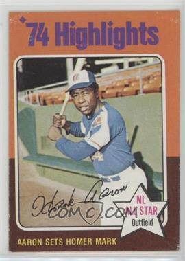 1975 Topps - [Base] #1 - Hank Aaron