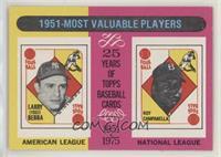 1951-Most Valuable Players (Yogi Berra, Roy Campanella)
