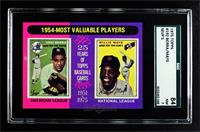 1954-Most Valuable Players (Yogi Berra, Willie Mays) [SGC 84 NM …