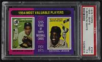 1954-Most Valuable Players (Yogi Berra, Willie Mays) [PSA 7.5 NM+]