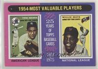 1954-Most Valuable Players (Yogi Berra, Willie Mays)