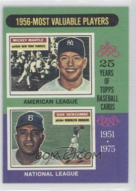 1975 Topps - [Base] #194 - 1956-Most Valuable Players (Mickey Mantle, Don Newcombe)