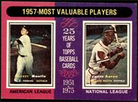 1957-Most Valuable Players (Mickey Mantle, Hank Aaron) [EXMT+]