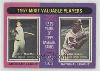 1957-Most Valuable Players (Mickey Mantle, Hank Aaron) [PoortoFair]