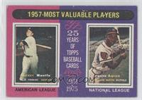 1957-Most Valuable Players (Mickey Mantle, Hank Aaron) [Noted]