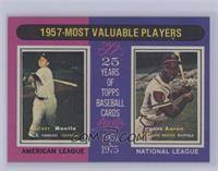 1957-Most Valuable Players (Mickey Mantle, Hank Aaron) [NearMint‑Mi…