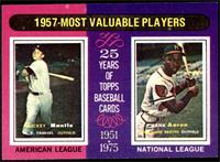 1957-Most Valuable Players (Mickey Mantle, Hank Aaron) [NM]