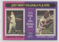 1957 Most Valuable Players (Mickey Mantle, Hank Aaron) [GoodtoVG&#8…