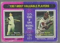 1957-Most Valuable Players (Mickey Mantle, Hank Aaron) [Poor]