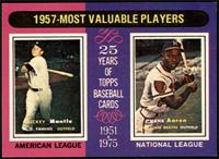 1957-Most Valuable Players (Mickey Mantle, Hank Aaron) [NMMT]