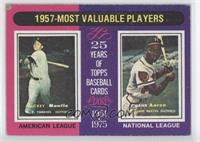 1957 Most Valuable Players (Mickey Mantle, Hank Aaron) [Good to VG&#8…