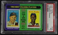 1958-Most Valuable Players (Jackie Jensen, Ernie Banks) [PSA7NM]